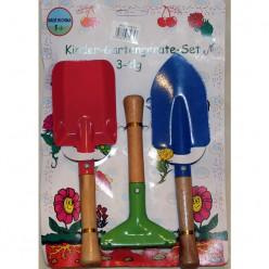 Две лопатки и грабли для детей.