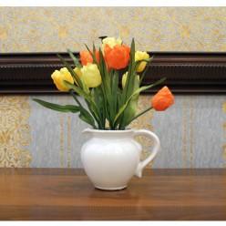 Искуственные тюльпаны в горшочке-Оформление интерьера-bakida-qiymeti-almaq-baku