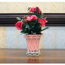 Искуственные розы в горшочке-Оформление интерьера-bakida-qiymeti-almaq-baku