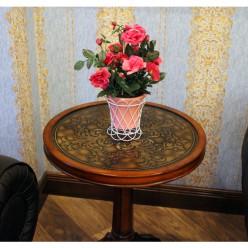 Искуственные розы в горшочке