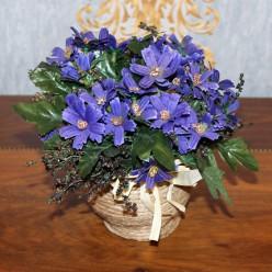 Искуственные цветы фиолетовые-Оформление интерьера-bakida-qiymeti-almaq-baku