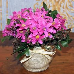 Искуственные цветы розового цвета-Оформление интерьера-bakida-qiymeti-almaq-baku