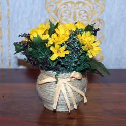 Искуственные цветы желтого цвета