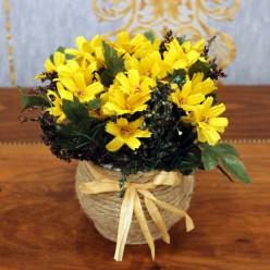 Искуственные цветы желтого цвета-Оформление интерьера-bakida-qiymeti-almaq-baku