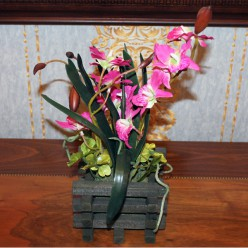 Искуственная Орхидея розовая-Оформление интерьера-bakida-qiymeti-almaq-baku