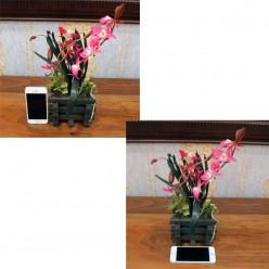 Искуственная Орхидея розовая