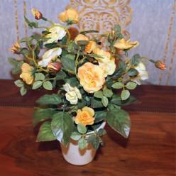 Искуственные желтые розы-Оформление интерьера-bakida-qiymeti-almaq-baku