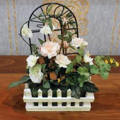 Искуственные белые розы-Оформление интерьера-bakida-qiymeti-almaq-baku