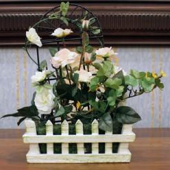 Искуственные белые розы
