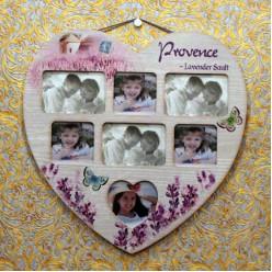 Фото рамка в форме сердца для 7 фотографий в стиле прованс-Рамы и картины-bakida-qiymeti-almaq-baku