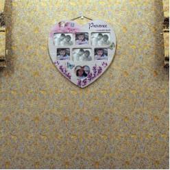 Фото рамка в форме сердца для 7 фотографий в стиле прованс