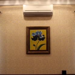"""Картина на маслянной краске """"Синий Цветок"""""""