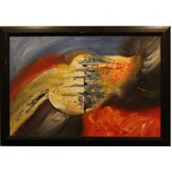 Разноцветная картина на масляной краске-Рамы и картины-bakida-qiymeti-almaq-baku