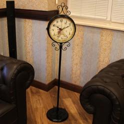 Черные напольные часы двухсторонние-Напольные часы-bakida-qiymeti-almaq-baku