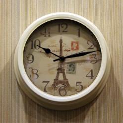 """Настенные часы """"Эфелевая Башня""""-Оформление интерьера-bakida-qiymeti-almaq-baku"""