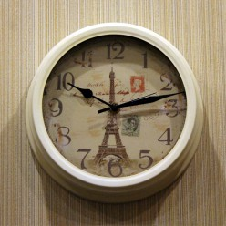 "Настенные часы ""Эфелевая Башня""-Настенные часы-bakida-qiymeti-almaq-baku"