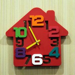 """Настеные часы """"Домик""""-Оформление интерьера-bakida-qiymeti-almaq-baku"""