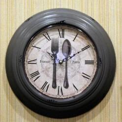 """Настенные часы """"Ложка вилка""""-Часы-bakida-qiymeti-almaq-baku"""