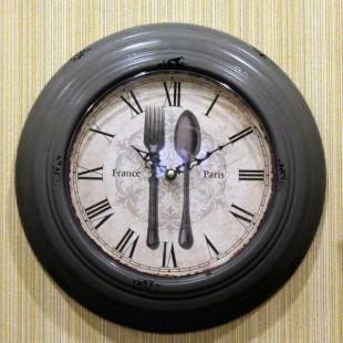 """Настенные часы """"Ложка вилка"""""""