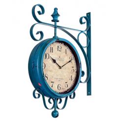 Синие настенные часы двухсторонние -Настенные часы-bakida-qiymeti-almaq-baku