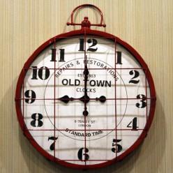 Настенные часы Old Town красный-Оформление интерьера-bakida-qiymeti-almaq-baku