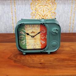 Винтажные настольные часы с флагом Италии