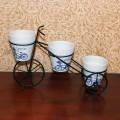 Kiçik velosiped 3 gül qoymaq üçün