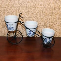 Маленький велосипед подставка для 3  цветочных горшков-Оформление интерьера-bakida-qiymeti-almaq-baku