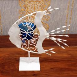 Подсвечник Рыба-Оформление интерьера-bakida-qiymeti-almaq-baku