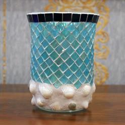 Подсвечник стакан мозайка