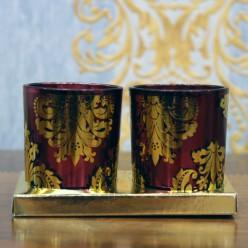 Два стаканчика для свечи-Оформление интерьера-bakida-qiymeti-almaq-baku