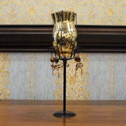 Подсвечник золотистый бокал-Подсвечники и свечи-bakida-qiymeti-almaq-baku