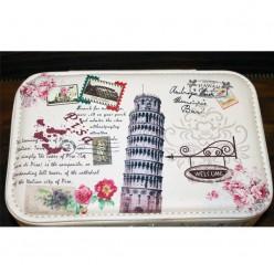 Шкатулка для украшений - цветочный c пизанской башней
