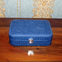Шкатулка для украшений - синий с узорами бута -Шкатулки-bakida-qiymeti-almaq-baku