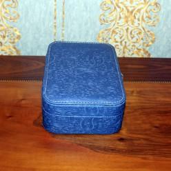 Шкатулка для украшений - синий с узорами бута