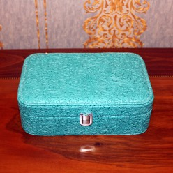 Шкатулка для украшений - зеленная с узорами бута -Шкатулки-bakida-qiymeti-almaq-baku