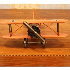 Самолет винтажный красный-Оформление интерьера-bakida-qiymeti-almaq-baku