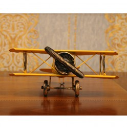 Самолет винтажный желтый-Статуэтки-bakida-qiymeti-almaq-baku