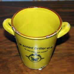 Декоративный горшок цветочный желтого цвета