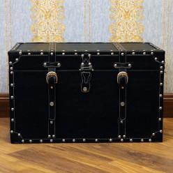 Классический кожанный сундук, черный - средний-Сундуки-bakida-qiymeti-almaq-baku