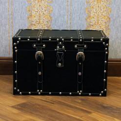 Классический кожанный сундук, черный - маленький-Сундуки-bakida-qiymeti-almaq-baku