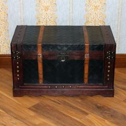 Сундук классический стиль с кожанным покрытием-большой-Сундуки-bakida-qiymeti-almaq-baku