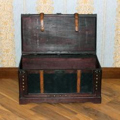 Сундук классический стиль с кожанным покрытием-большой