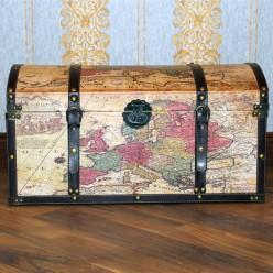 Сундук с картой мира-Оформление интерьера-bakida-qiymeti-almaq-baku