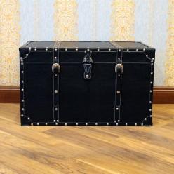 Классический кожанный сундук черный - большой-Сундуки-bakida-qiymeti-almaq-baku