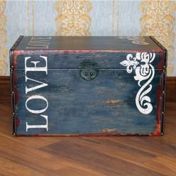 Сундук деревянный Love- средний-Для дома и сада-bakida-qiymeti-almaq-baku