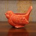 Кашпо красная птичка