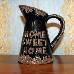 "Кувшин черный с надписью ""home sweet home""-Тарелки-bakida-qiymeti-almaq-baku"