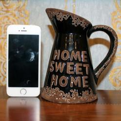 "Кувшин черный с надписью ""home sweet home"""