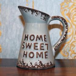 """Кувшин серый с надписью """"home sweet home""""-Чашки-bakida-qiymeti-almaq-baku"""